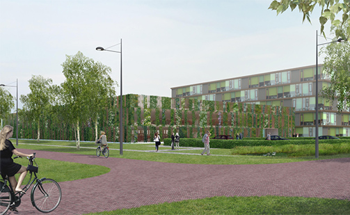 Design for green parking garage Wageningen University presented